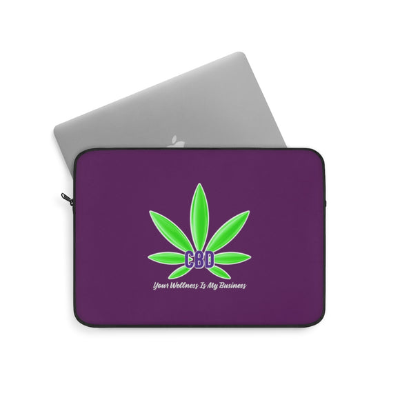 CBD, Your Wellness is My Business - Laptop Sleeve