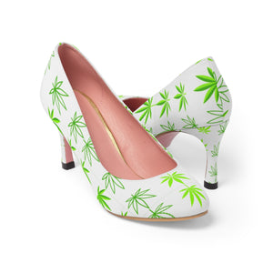 Hemp Leaf Design Women's High Heels