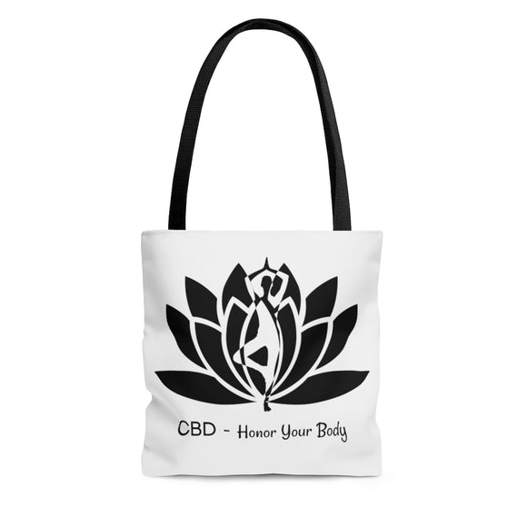 Copy of Copy of CBD Honor Your Body -  2 Sided Tote Bag