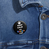 Keep Calm and Google CBD Pin Button
