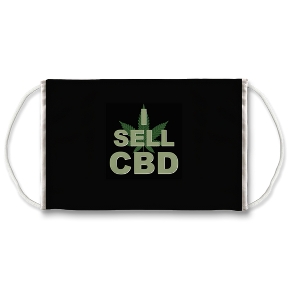 I Sell CBD (black) Face Mask