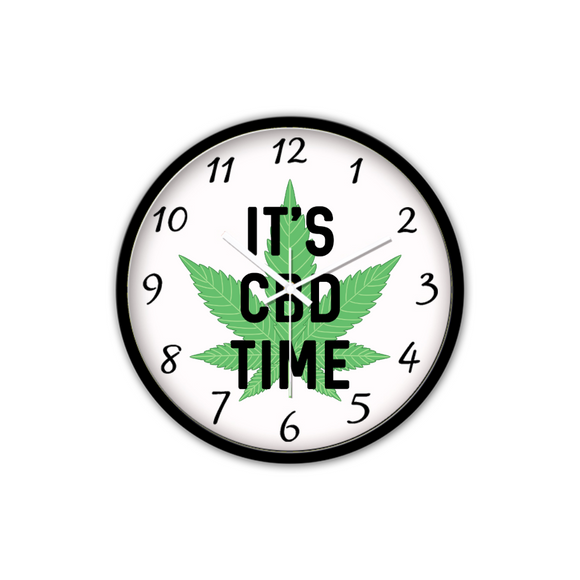 It's CBD Time - Non-Ticking Silent Wall Clock (Black)