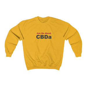 Ask Me About CBDa Unisex Heavy Blend™ Crewneck Sweatshirt (plus size up to 5x)