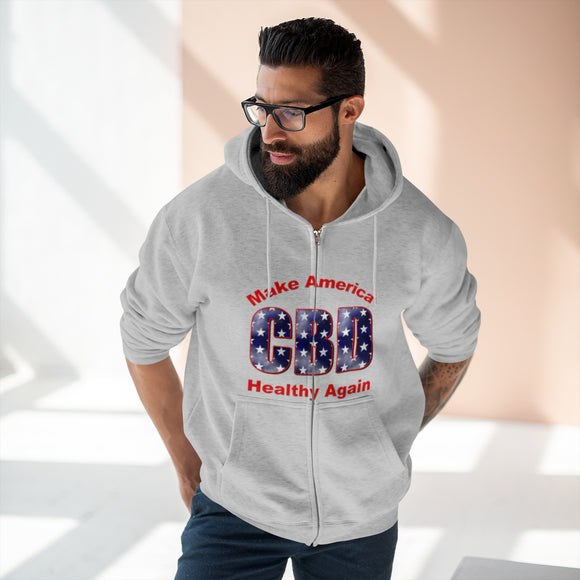 CBD Make America Healthy Again Unisex Premium Full Zip Hoodie (Plus Size up to 2x)
