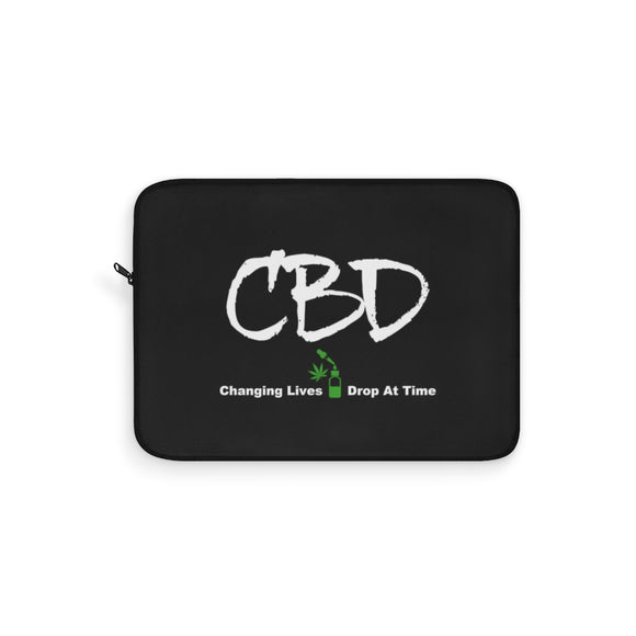 CBD, Changing Lives One Drop at a Time  - Laptop Sleeve