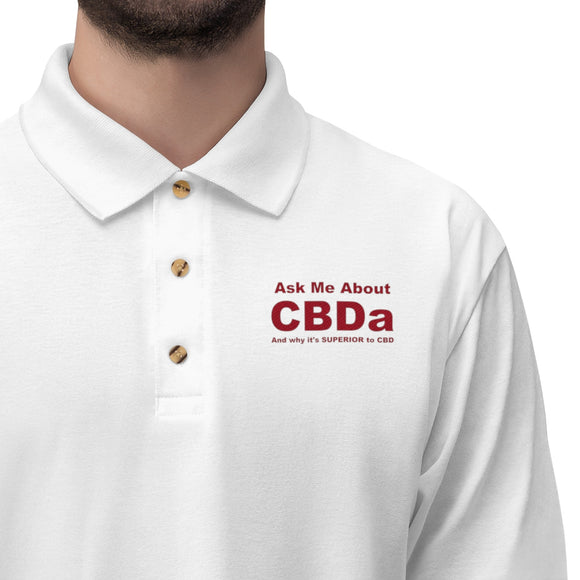 Ask Me About CBDa and why it's SUPERIOR to CBD - Men's Jersey Polo Shirt