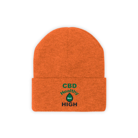 CBD Healthy Not High - Knit Beanie