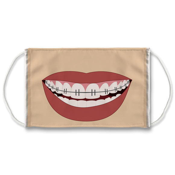 Mouth with Braces Face Mask