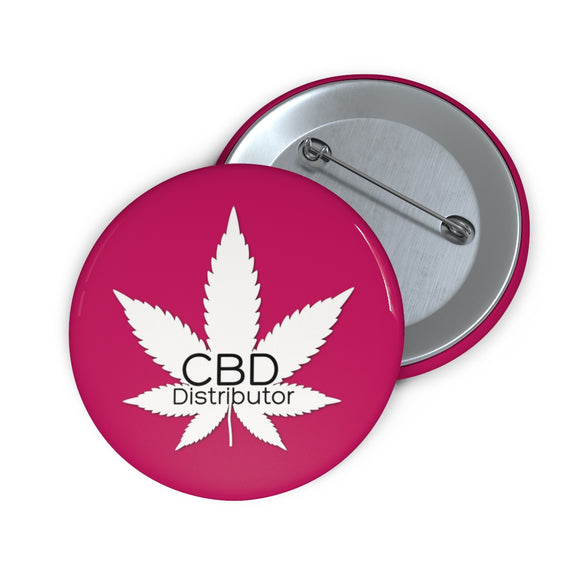 CBD Distributor, Pink,  Pin Button