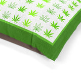 Hemp Leaf Print Pet Bed