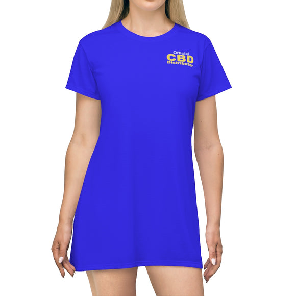 Official CBD Distributor -  T-shirt Dress (up to plus size 2x)