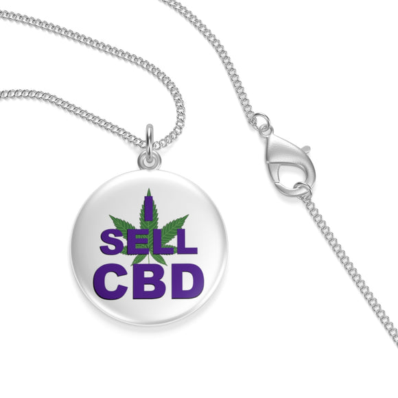 I Sell CBD Single Loop Necklace