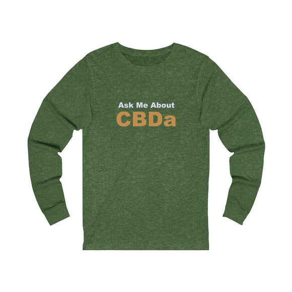 Ask Me About CBDa Unisex Jersey Long Sleeve Tee