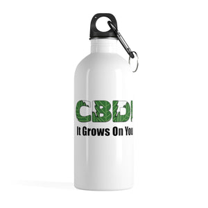 CBD It Grows On You - Stainless Steel Water Bottle