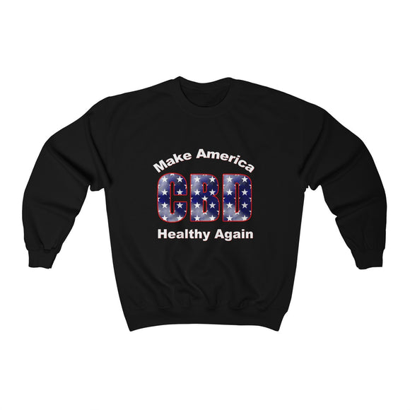 2 Sided Make America Healthy Again / CBD Distributor Unisex Heavy Blend™ Crewneck Sweatshirt (plus size up to 5x)