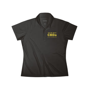 Ask Me About CBDa and why it's SUPERIOR to CBD Embroidered Women's Polo Shirt
