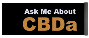 Ask Me About CBDa White And Gold - Yoga Mat