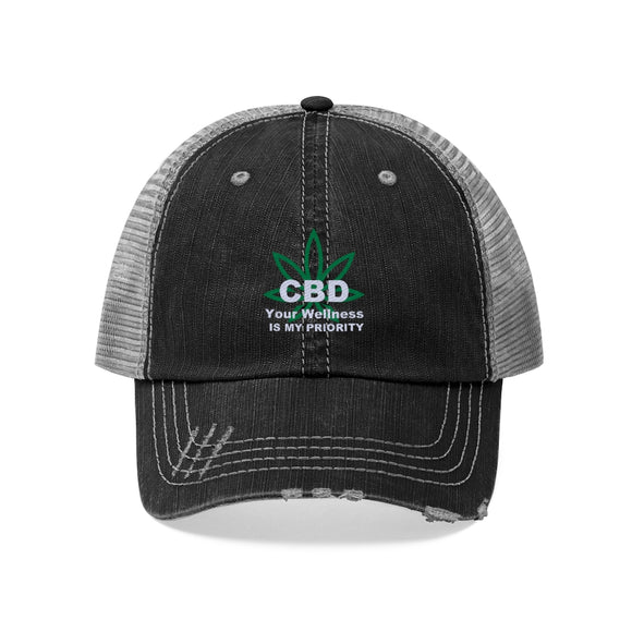 CBD Your Wellness Is My Priority Unisex Trucker Hat