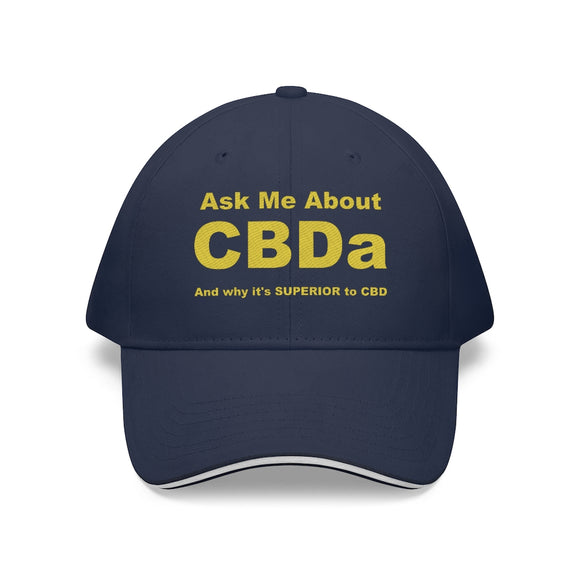 Ask Me About CBDa Sandwich Brim Hat