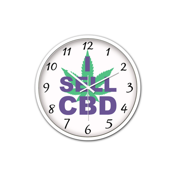 I Sell CBD - Non-Ticking Silent Wall Clock (White)