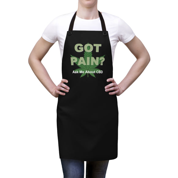 Got Pain? Ask Me About CBD Apron