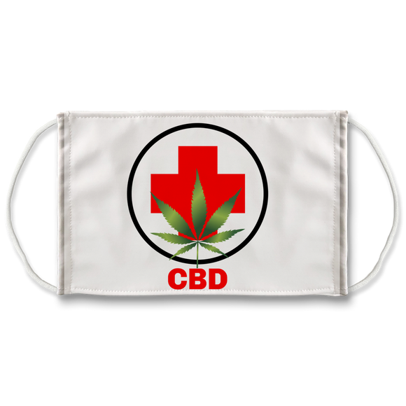CBD (leaf & cross) Face Mask