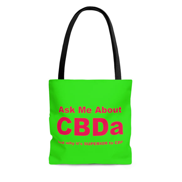 Ask Me About CBDa and why it's SUPERIOR to CBD -  2 Sided Tote Bag