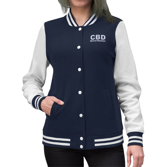 CBD Distributor Women's Varsity Jacket (up to Plus Size 4x)