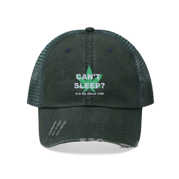 Can't Sleep? Ask Me About CBD Unisex Trucker Hat