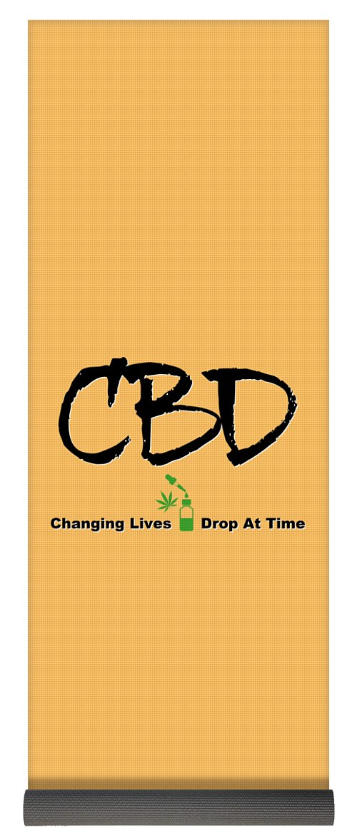 CBD Changing Lives One Drop At A Time - Yoga Mat
