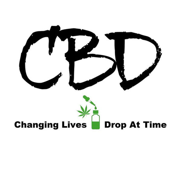 CBD Changing Lives One Drop At A Time - Art Print