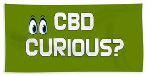 CBD Curious? - Beach Towel