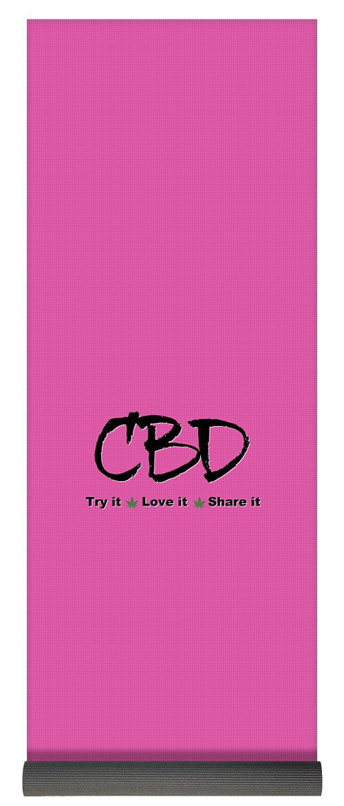 CBD, Try It Love It, Share It - Yoga Mat