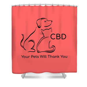 CBD, Your Pets Will Thank You - Shower Curtain