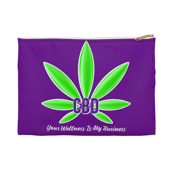 CBD Your Wellness is My Business  2 Sided Accessory Pouch