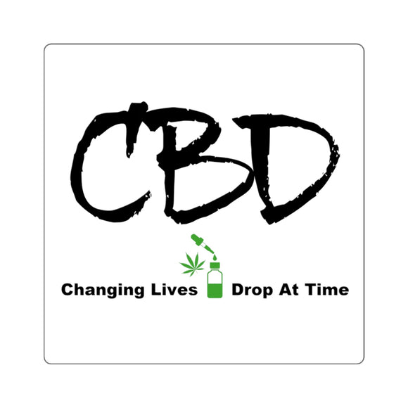 CBD Changing Lives One Drop at a Time, Square Sticker