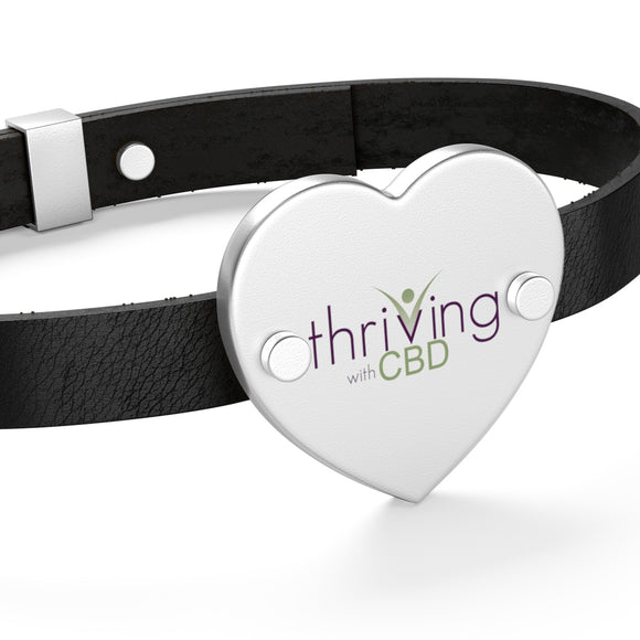 Thriving With CBD Leather Bracelet
