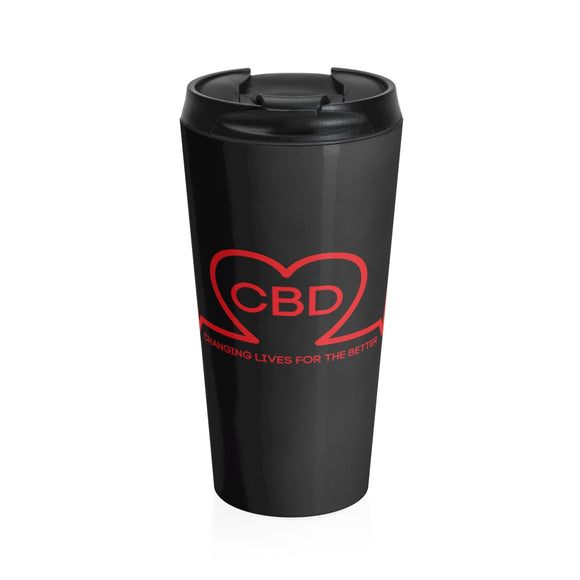 CBD Changing Lives for the Better - Stainless Steel Travel Mug