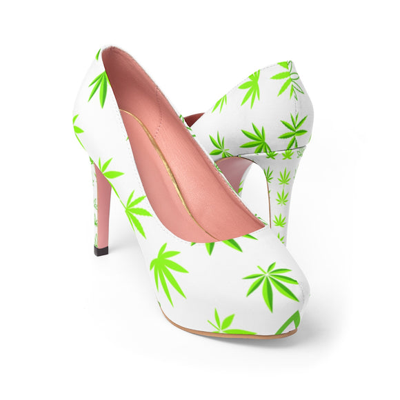 Hemp Leaf Women's Platform Heels