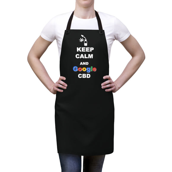 Keep Calm and Google CBD Apron