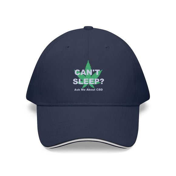 Can't Sleep? Ask Me About CBD Sandwich Brim Hat