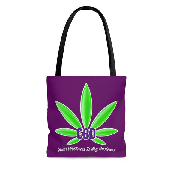 CBD Your Wellness Is My Business / I Sell CBD -  2 Sided Tote Bag