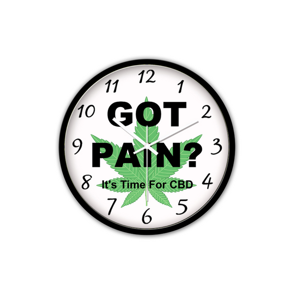 Got Pain? Non-Ticking Silent Wall Clock (Black)