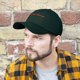 Ask Me About CBD (Orange & Green) - Unisex Twill Hat