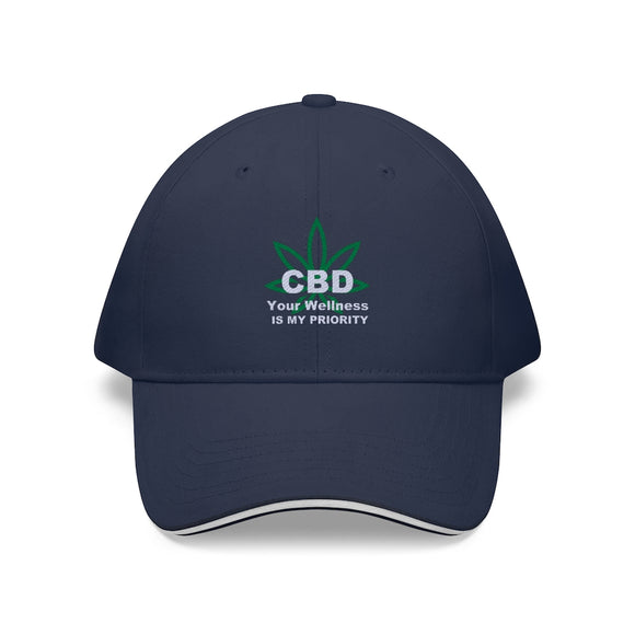 CBD Your Wellness Is My Priority Sandwich Brim Hat