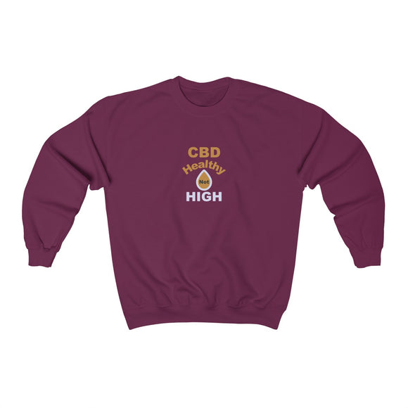 CBD Healthy Not High Unisex Heavy Blend™ Crewneck Sweatshirt (plus size up to 5x)