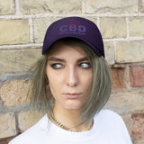 Official CBD Distributor (Red & Purple)  - Unisex Twill Hat
