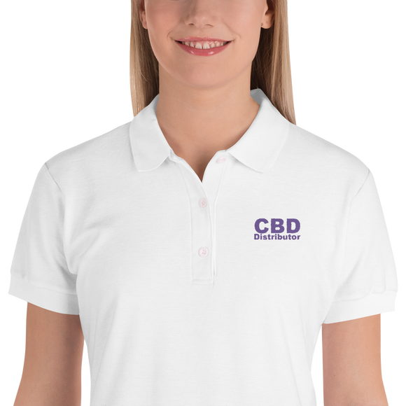 CBD Distributor - Embroidered Women's Polo Shirt