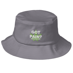 Got Pain? Ask Me About CBD Old School Bucket Hat (Embroidered)