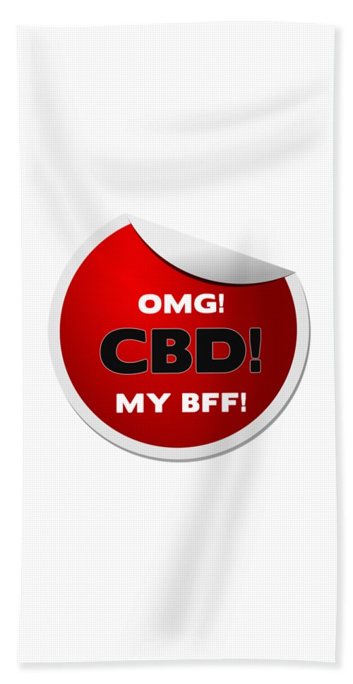 Omg CBD My Bff - Beach Towel